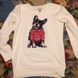 Loft doggy sweater white S